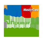 Принимаем к оплате Visa, MasterCard, Приват24